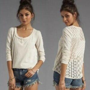 Free People ~ Cream ~ Crochet Back  ~ Size XSmall